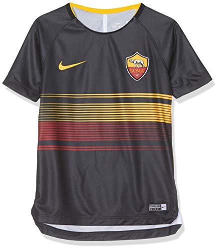 NIKE Roma Y NK Dry SQD Top SS GX 2 - Camiseta, Unisex Infantil, Negro(Black/Black/University Gold)