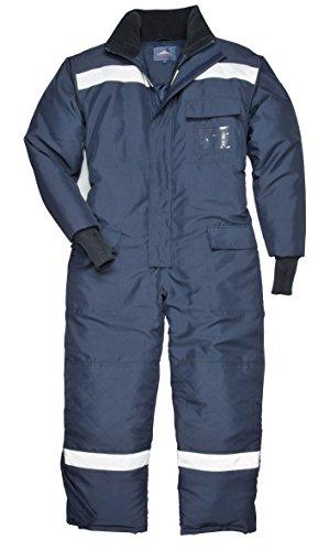 Cold Store Thermooverall Kälteschutzanzug Thermoanzug blau - mit Reflexstreifen (3XL)