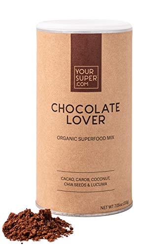 Your Superfoods Chocolate Lover Superfood - Bio Vegan Mix Mischung Trinkpulver aus Kakao, Carob, Kokos, Chia Samen und Lucuma, die gesunde Schokolade 200g