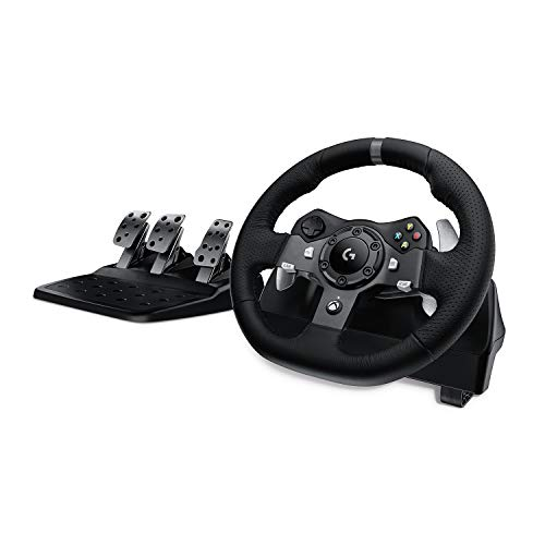 Logitech G920 Driving Force Racing Wheel and Floor Pedals, Real Force...