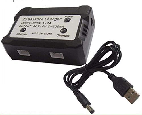 GzxLaY Batteria di Backup ad Alte Prestazioni per MJX Bug 3 7.4V 3600mAh Batteria Lipo per Force1 F100 Contixo F17 RC Drone Spare Parts-A_Black ( Color : Black )