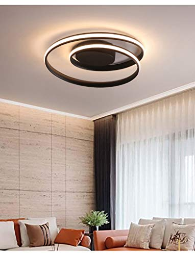 RAQ Moderne kroonluchter LED-lamp voor woonkamer slaapkamer werkkamer wit zwart kleur oppervlakteverlichting lamp decoratie 60x15cm 65W wit