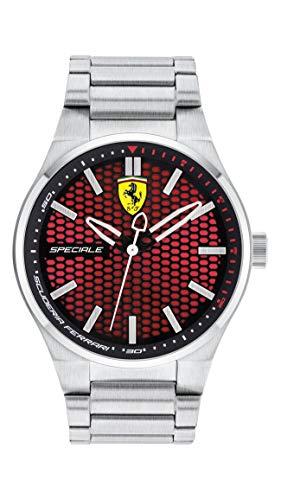Scuderia Ferrari Herren Quarz Armbanduhr mit Edelstahlarmband 830357