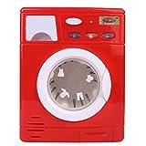 Simule el juguete de la lavadora de rodillos, juegue simulando el juguete de la lavadora de limpieza con un interesante regalo de luz y sonido para niños niñas(5502 rojo)