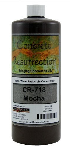 Concrete Stain Concentrate Just Add Water, User & Eco-Friendly Semi-Transparent Professional Grade Cement Stain, Concrete Resurrection Brand (32 ounce, Mocha)