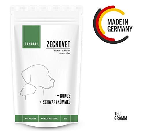 Canobel® Zeckovet - Natürlicher Schutz-Snack für Hunde mit Schwarzkümmelöl und Kokosöl - Kaltgepresst & Getreidefrei