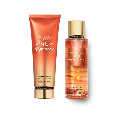 Set Victoria Secret Amber Romance Body Mist 250 ML + Crema 236 ML