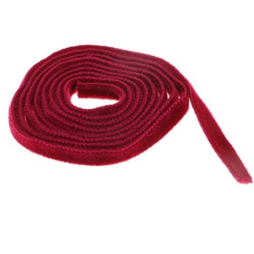 Nobranded 1 Rollo/Yarda, Adornos de Terciopelo para Coser Anchos para Bricolaje, Suministros de Lazo para El Cabello, Envoltura de Regalos - Vino Rojo, Individual