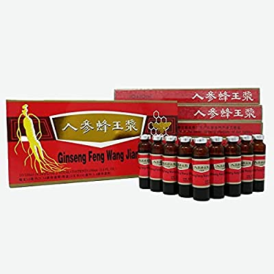 Ginsen 10 Boxes Ginseng Royal Jelly Oral Liquid (3x10x10ml), Red Panax Ginseng & Royal Jelly Improves Stamina, Memory, Focus, Clarity, Immunity and Energy Support, UK