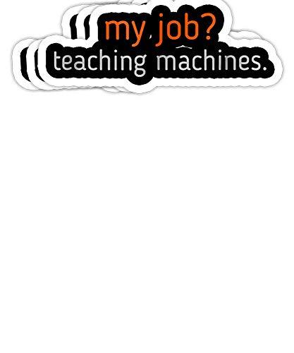 GrayFoxxy Machine Learning, Data Science, Job, Engineer, Math Gift Decorations - 4x3 Vinyl Stickers, Laptop Decal, Water Bottle Sticker (Set of 3)