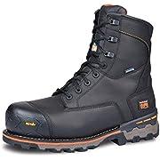 """Timberland PRO Men's Boondock 8"""" Composite Toe Puncture Resistant Waterproof Industrial Boot, Black, 9.5"""