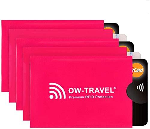 RFID Schutzhülle Kreditkarten - 100% Schutz - NFC Schutzhüllen, Reisepasshülle Reisezubehör für Kreditkarte, Personalausweis, EC Bankkarten, Visa, Ausweis: Kartenschutz Cardguard Blocker Hülle 5