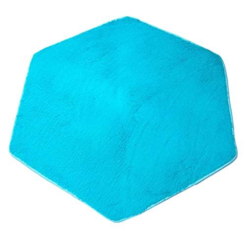 B Blesiya Weiche Plüsch Kinder Zelt Teppich Krabbeldecke Matt Kinderteppich - Sechseckig - Blau