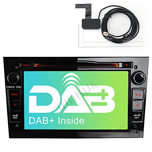 Built-in DAB+ Autolink 2DIN DVD GPS Autoradio mit Navi für Opel Astra Corsa Zafira Meriva Vivaro Vectra Antara,7 Zoll Touchscreen Radio unterstützt Lenkrad Bedienung USB SD RDS Bluetooth (Schwarz)