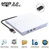 USCVIS Grabadora de Lector CD/DVD Externa USB 3.0 y Tipo C,