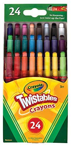 ارخص مكان يبيع Crayola Twistables Crayons Coloring Set, Kids Indoor Activities at Home, 24 Count