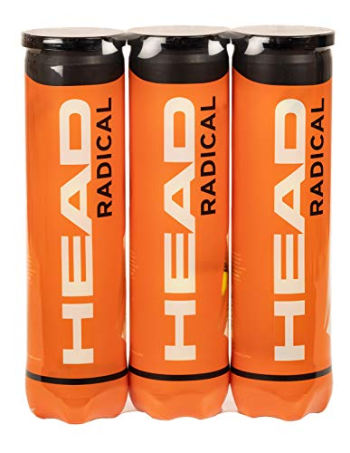 Head Radical Balles de tennis – Boites de 4 balles – Lot de 3