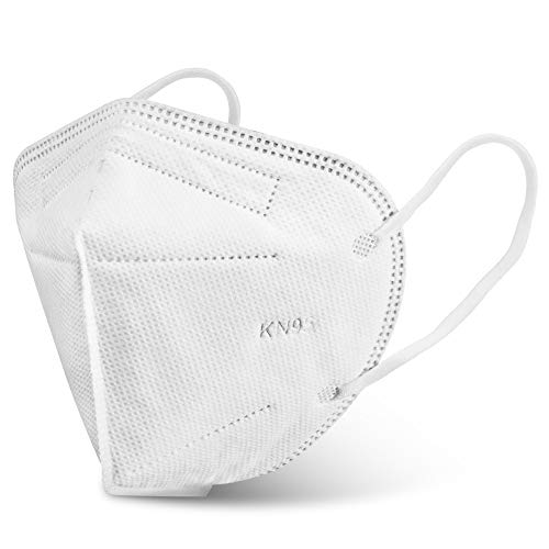 KN95 Face Masks, Eventronic Daily Protective Masks, 5-Layers White Disposable Mask Cover for Outdoor&Home, 10 Per Box