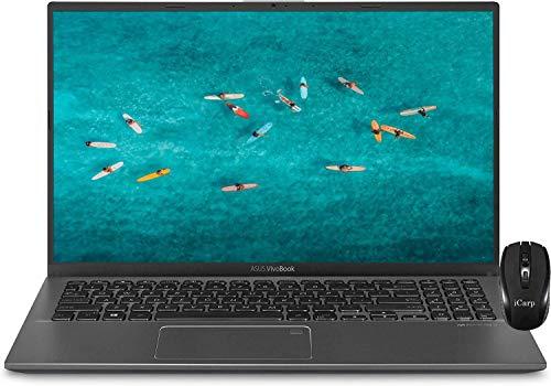 "2020 Premium ASUS VivoBook 15 Thin and Light Laptop 15.6"" Full HD Display 10th Gen Intel Core i3-1005G1 (Beats I5-7200U) 8GB DDR4 256GB PCIe SSD Fingerprint Backlit KB Win 10 + iCarp Wireless Mouse"
