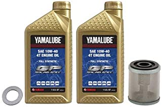 Oil Change Kit Yamalube Hi-Perf. Full-Synthetic 10W-40 for Yamaha WR400F 1998-2000