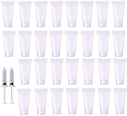 Leere Probenfläschchen für Kosmetika, 30 ml, Reiseflaschen, Behälter für Shampoo, Gesichtsreiniger, Körperlotion (Klappverschluss)