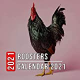 Roosters Calendar 2021: 12 Month Mini Calendar from Jan 2021 to Dec 2021, Cute Gift Idea | Pictures in Every Month