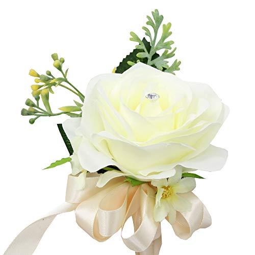 angel isabella, llc build wedding package – beautiful fall wedding marine navy, wine burgundy, ivory, sunflowers artificial flower (wrist corsage)