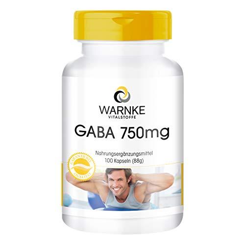 GABA 750mg Kapseln - hochdosiert & vegan - Gamma-Aminobuttersäure - 100 Kapseln