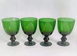 Cj Antigo De 4 Tacas Em Cristal Frances Verde 1199r Rrdeco Cor:Verde (Verde)