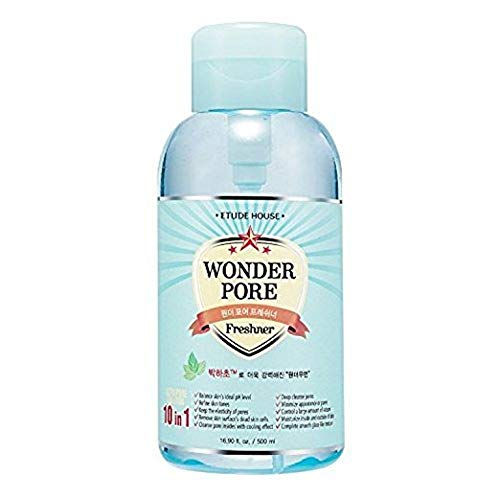ETUDE HOUSE Wonder Pore Freshner (500ml) - Pore Care Astringent with Peppermint Extract, Deep Cleansing, Sebum Control, pH4.5 Care, Makes Skin Pure