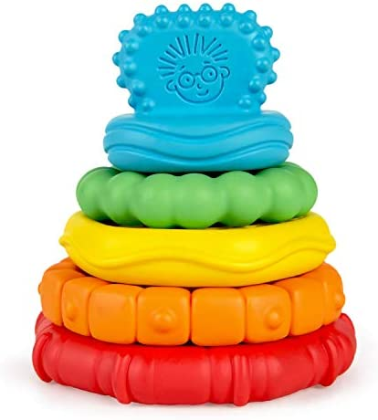 Baby Einstein Stack Teethe Multi Textured Easy to Grasp 5 Piece Teether Toy Set Ages 3 Months product image