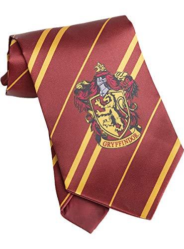 Funidelia | Corbata Harry Potter Gryffindor Oficial para Hombre y Mujer ▶ Hogwarts, Magos, Películas & Series - Color: Granate, Accesorio para Disfraz - Licencia: 100% Oficial