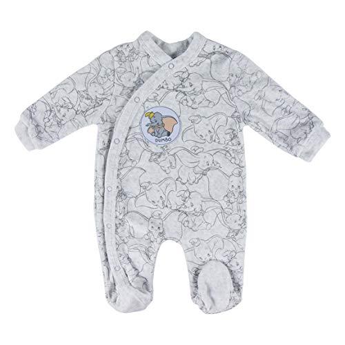 Artesania Cerda Pelele Velour Disney Dumbo, Gris (Gris C13), 3m Unisex bebé