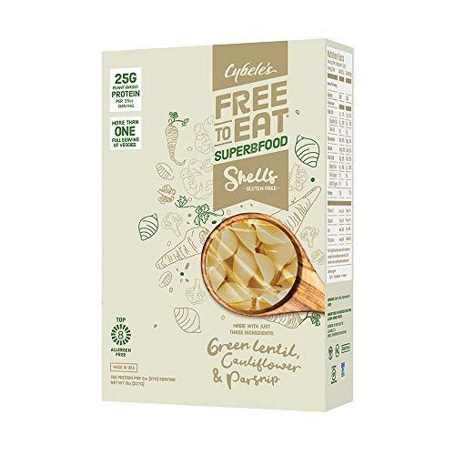 Cybele's Free to Eat Superfood Veggie Pasta - Superfood White, Shells - 8 Oz Box