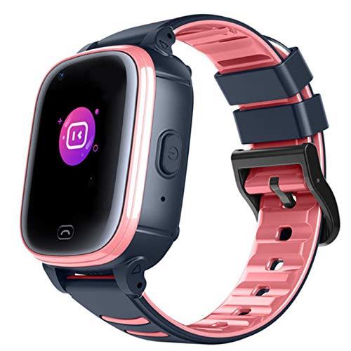 Claelech Kinder Smartwatch, IPX7 Wasserdicht 4G Kinder Phone Uhr Touchscreen GPS Tracker Echtzeit Geo-Fence mit SOS Videoanruf Voice Chat Anruf Kamera schrittzähler für Jungen und Mädchen (Rosa, CL80)