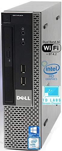 Dell Optiplex 7010 USFF Desktop Computer with Intel i5-3470S Upto 3.6GHz, HD Graphics 2500 4K Support, 16GB RAM, 1TB SSD, DisplayPort, HDMI, DVD, AC Wi-Fi, Bluetooth - Windows 10 Pro (RENEWED)