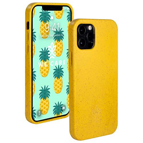 WE CARE   nachhaltige kompostierbare Handyhülle   iPhone 12 Hülle & 12 Pro Hülle  biologisch abbaubares, weiches, Mattes stoßfestes öko Handy Hülle – leicht und flexibel (Gelb/Yellow)