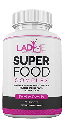 Organic SuperFood Complex for Women - Immune Support Best Super Greens Supplement with 14 Greens, Fruits and Vegetables - Anti Aging Support Supplement - Rich in Antioxidants - 60 Tablets - LadyMe