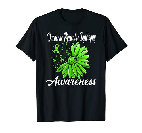 Duchenne Muskeldystrophie-Bewusstsein mit DMD-Beziehung Limettengrün T-Shirt