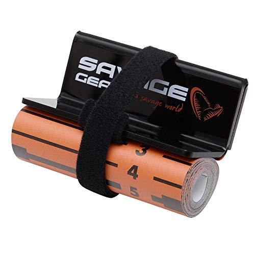 Savage Gear 8x130cm Measure Up Roll - Fischmaßband für Hecht, Zander & Barsch, Maßband zum Raubfischangeln, Messlatte für Raubfische
