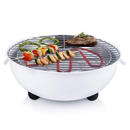 Tristar elektrischer BBQ-Grill/ Tischgrill - 30cm Durchmesser, 1250 Watt, weiß, BQ-2882