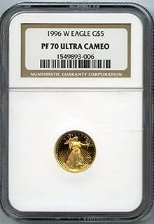 1996 W Gold Eagles Five Dollar NGC PR-70