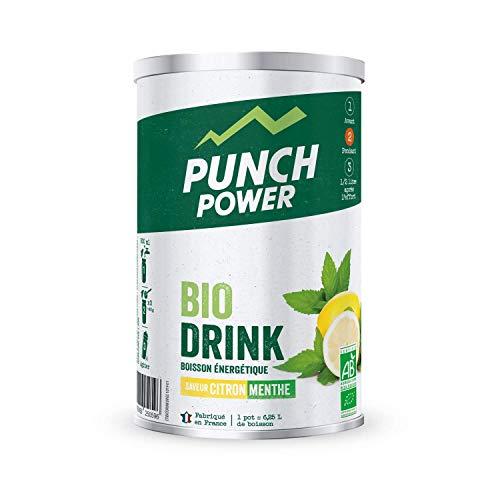 PUNCH POWER - Biodrink - Citron-Menthe - Pot 500 g - Boisson Glucidique de l'effort - Différentes formes de glucides (maltodextrine, dextrose, fructose, saccharose) - Bio - Marque Française
