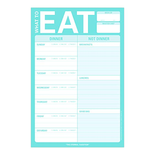 Knock Knock What To Eat Pad (Mint Green), Meal Planning Note Pad, 6 x 9-inches Photo #2