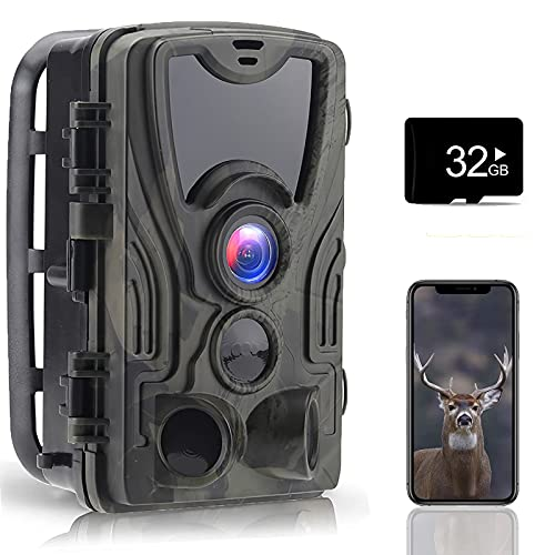 4K 30MP WLAN Low Glow IR Telecamera per La Visione Notturna della Fauna Selvatica con Rilevatore di Movimento Trasmissione del Telefono Cellulare 120 ° Grandangolare Impermeabile IP66
