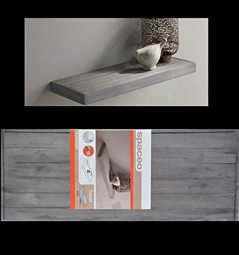 Details van Duraline houten boekenplank wandplank zwevend wandrek 60 x 23,5 x 4 cm FSC