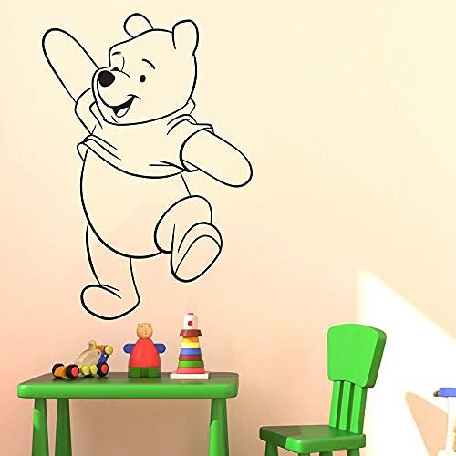 HGFDHG Winnie The Pooh Pegatinas de Pared Arte de la habitación de los niños Pegatinas de Pared Pintor con Pegatinas calcomanía de la habitación de los niños Oso de Dibujos Animados de Color sólido