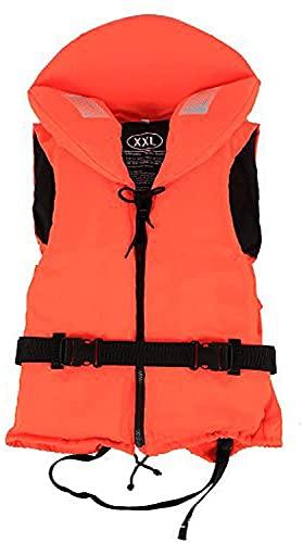 SDKFJ Chaleco Salvavidas Tirantes Ajustables Chaleco Salvavidas con Cinta Chaleco Salvavidas de Emergencia para Nadadores y no Nadadores(Color:Orange)