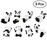 BESTONZON 8 Stäbchen Halter Panda Stäbchen Kissen Keramik Geschirr Handwerk