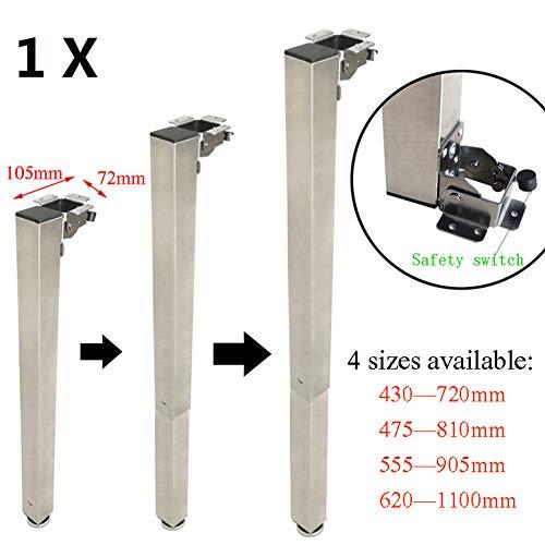 GXXASD Patas Telescópicas para Mesa Regulables En Altura Ajustable Altura Plegable Apoyo,475—810mm